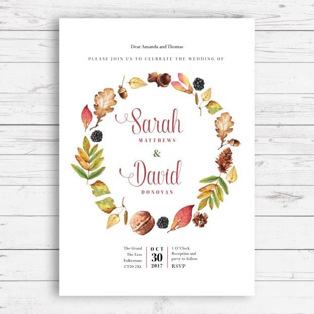 Autumn invite